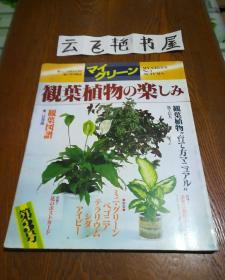 日文原版:观叶植物の乐しみ 1982年初版