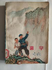 红雨(这是一本描写少年赤脚医生斗争故事的中篇小说)(朝文版)(★-书架4)