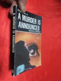 谋杀通告     (英文版)   【世界著名侦探小说 】