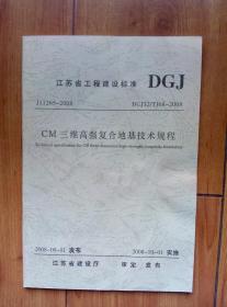 江苏省工程建设标准 DCJ /TJ68-2008:CM三维高强复合地基技术规程
