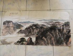 中国文化学会艺委会主席吴川作品《黄山纪游》
