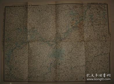 侵华地图 双面印 1938年 广东香港明细地图/汉口南昌明细地图 (附汕头附近图 广东略图 香港略图)
