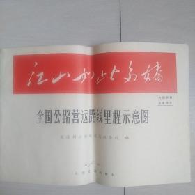 全国公路营运路线里程示意图(1965年版)