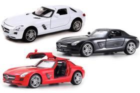 美致合金车模(型号26048) 1:24仿真奔驰SLS汽车模型 跑车模型 收藏摆件