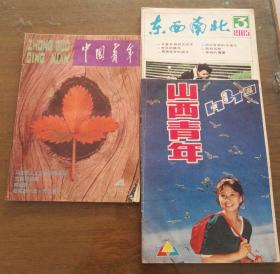 中国青年1986年第4期、山西青年1981年第9期 、东西南北1985年3期三本月刊