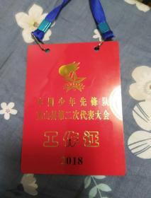 中国少年先锋队克山县第二次代表大会工作证2018