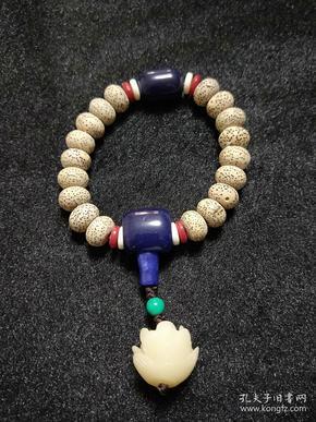 【保真】玄月菩·提子手链,菩.提佛珠、手串,菩.提根雕刻莲花吊坠。