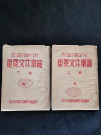 七十周年文献资料——西北区供销合作社重要文件汇编 带封套[上、下编]1949-1952、1953-1954  1954年西安出版 印量250册 馆藏