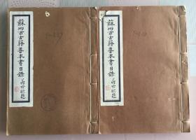 苏州市古籍善本书目录  蒋吟秋题名  2厚册全  内部油印本