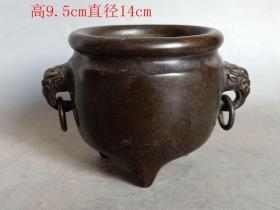 明代紫铜香.炉20