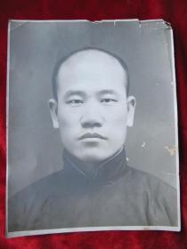 民国初帅哥老照片(刚刚剪掉辫子的拍照)27.5cm.21.5cm