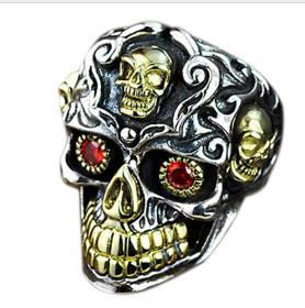 S925纯银雄顶级极品骷髅头戒指鬼斧神工,技艺精湛可遇不可求的戒指神品值得收藏和佩戴