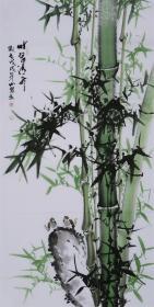 (保真,包真):【吕山泉】四尺真迹 :花鸟画家,美协会员,《翠竹1...》,四尺:136*68厘米.....