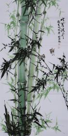 (保真,包真):【吕山泉】四尺真迹 :花鸟画家,美协会员,《翠竹2...》,四尺:136*68厘米.....
