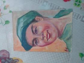 水彩画文献  著名水彩画家朱辉早期习作  人物作品之二