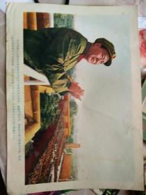 文革时期毛主席照片天安门检阅百万红卫兵,尺寸35Ⅹ26