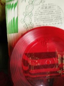 薄膜唱片,京剧,空城计,一张二面,杨宝森演唱,尺寸17x17公分。