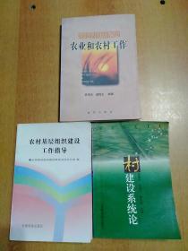 3册合售:村建设系统论、农村基层组织建设工作指导、面向新世纪的农业和农村工作