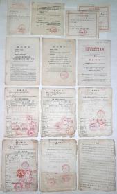 老档案:《1970年文革时期:上山下乡回乡手写原始老档案、文件》约75张。。