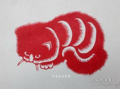 民间剪纸猫题材7张合售