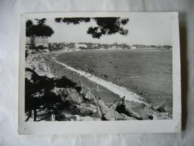 老照片:青岛汇泉湾