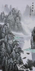 白雪石山水国画漓江春景名家字画纯手绘