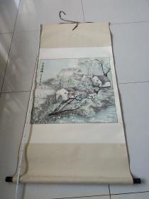 孙萍国画,江南春晓
