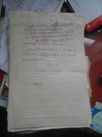 文革年代 一打三反期间;河南省安阳豫北纱厂食堂《三万九千斤事件(又称;11.19案件》系统材料