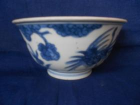 康熙--青花碗(半个)