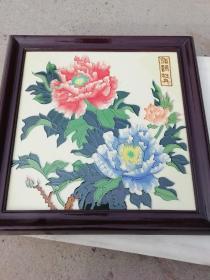 唐三彩装饰画