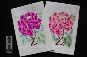 鑫阳斋。云龙纸棉纸贴花朵彩色老剪纸意大利品牌收藏品