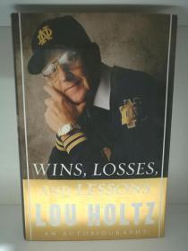 卢·霍兹自传 Lou Holtz:Wins,Losses,and Lessons An Autobiography (体育)英文原版书