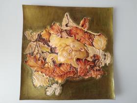 皮雕装饰画(一窝小兔子)