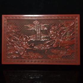 漆器盒,长27公分,宽17.5公分,高4公分