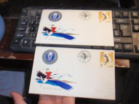第三届海鸥杯国际女排邀请赛纪念封(贴J62排球运动10分邮票一枚)(连个相同的合售!)L6