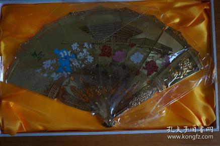 世博在上海工艺装饰扇 2010年上海世博会 工艺扇 配底座