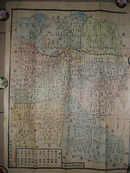 民初《洛阳县图》分九个区 (64.5x49cm)多色图