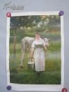 法国 罗尔 油画(印刷品)农妇芒达 拉梅特里 画一张 52/38厘米 人民美术出版社出版 1978年