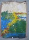 布制 写意 油画一幅 90*66厘米