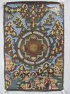 民国期间   手绘描金唐卡一幅 布制人物众多  尺寸46*70厘米  保存的相当好