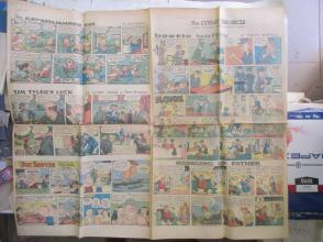 1959年外文原版彩色漫画报纸一期 1959年9月13 THE SUNDAY CHRONICLE 4开4版
