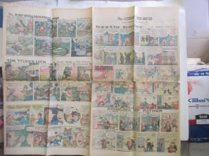 1959年外文原版彩色漫画报纸一期 1959年4月19 THE SUNDAY CHRONICLE 4开4版