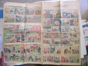1959年外文原版彩色漫画报纸一期 1959年1月4 THE SUNDAY CHRONICLE 4开4版