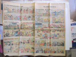 1959年外文原版彩色漫画报纸一期 1959年2月1 THE SUNDAY CHRONICLE 4开4版