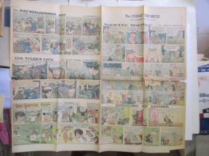 1959年外文原版彩色漫画报纸一期 1959年5月24 THE SUNDAY CHRONICLE 4开4版