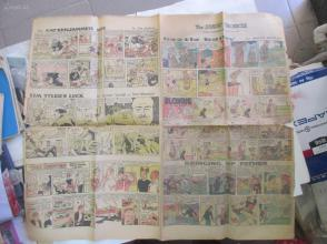 1959年外文原版彩色漫画报纸一期 1959年7月12 THE SUNDAY CHRONICLE 4开4版