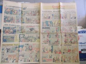 1958年外文原版彩色漫画报纸一期 1958年9月28 THE MANILA CHRONICLE 4开4版
