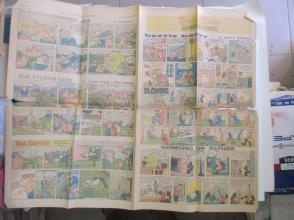 1958年外文原版彩色漫画报纸一期 1958年8月17 THE MANILA CHRONICLE 4开4版