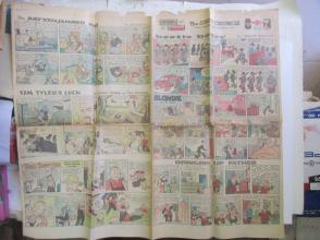 1959年外文原版彩色漫画报纸一期 1959年12月27 THE SUNDAY CHRONICLE 4开4版