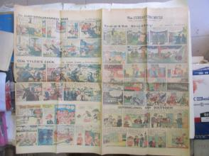 1959年外文原版彩色漫画报纸一期 1959年9月6 THE SUNDAY CHRONICLE 4开4版